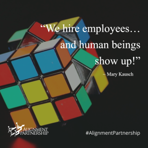 We hire employees... and human beings show up!